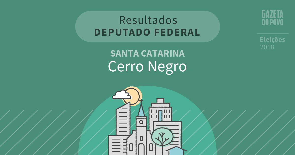 Resultados para Deputado Federal em Santa Catarina em Cerro Negro (SC)