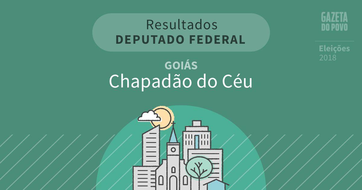 Resultados para Deputado Federal em Goiás em Chapadão do Céu (GO)