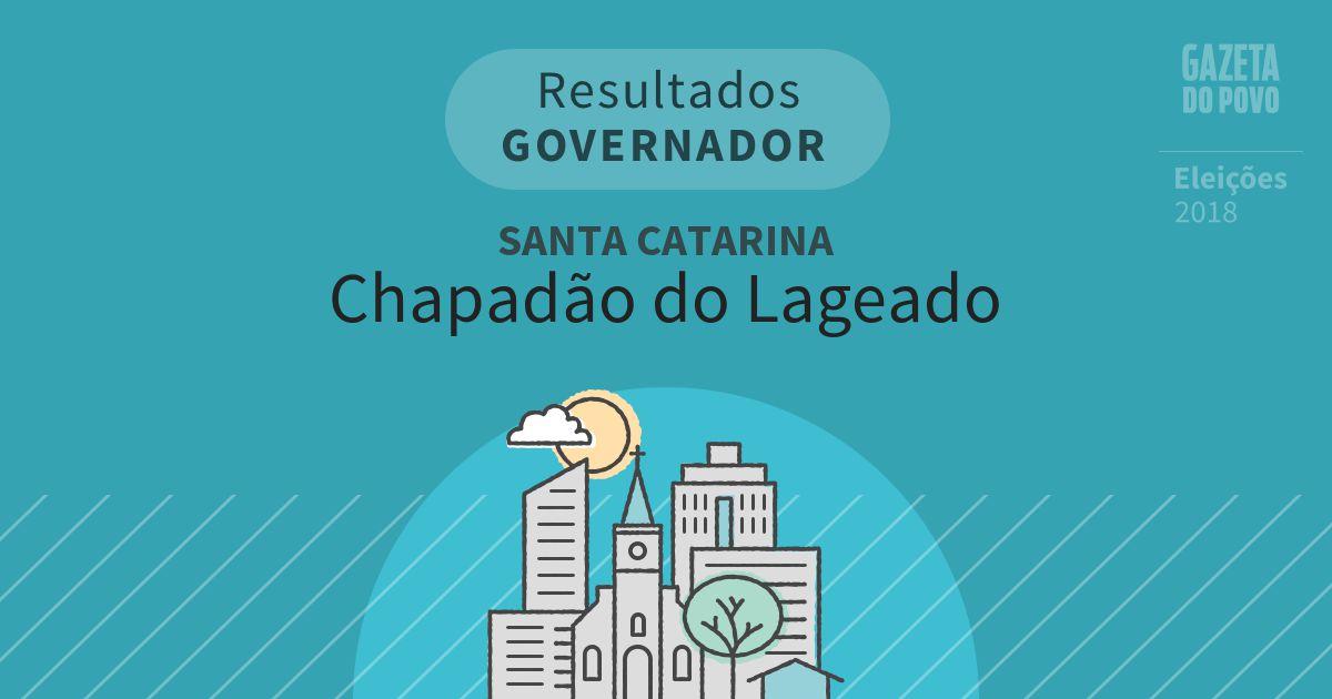 Resultados para Governador em Santa Catarina em Chapadão do Lageado (SC)