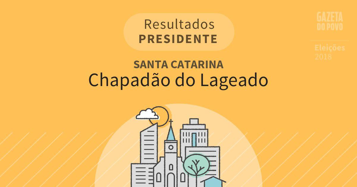 Resultados para Presidente em Santa Catarina em Chapadão do Lageado (SC)