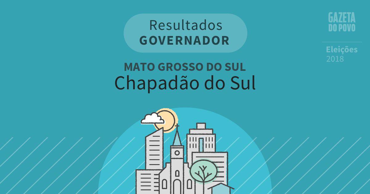 Resultados para Governador no Mato Grosso do Sul em Chapadão do Sul (MS)