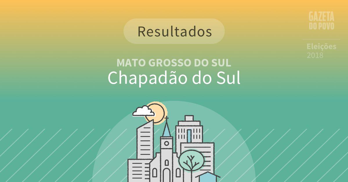 Resultados da votação em Chapadão do Sul (MS)
