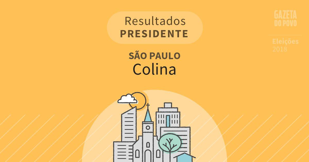Resultados para Presidente em São Paulo em Colina (SP)