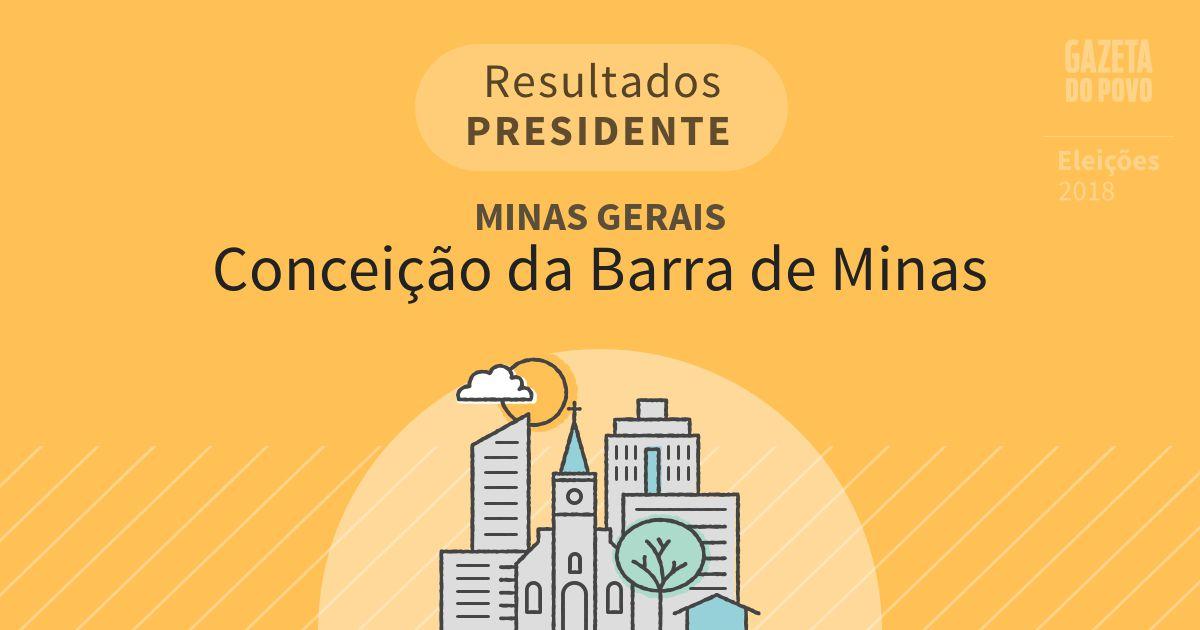 Resultados para Presidente em Minas Gerais em Conceição da Barra de Minas (MG)