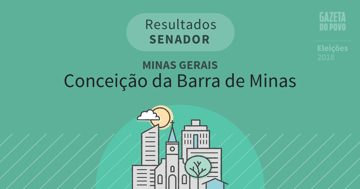 Resultados para Senador em Minas Gerais em Conceição da Barra de Minas (MG)