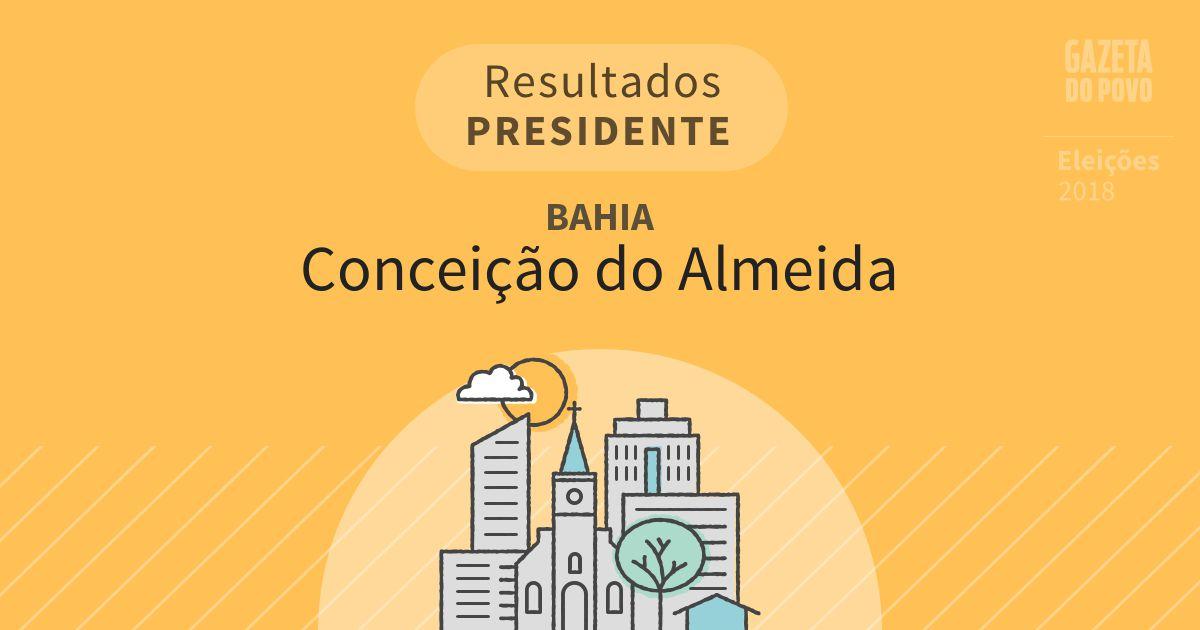 Resultados para Presidente na Bahia em Conceição do Almeida (BA)