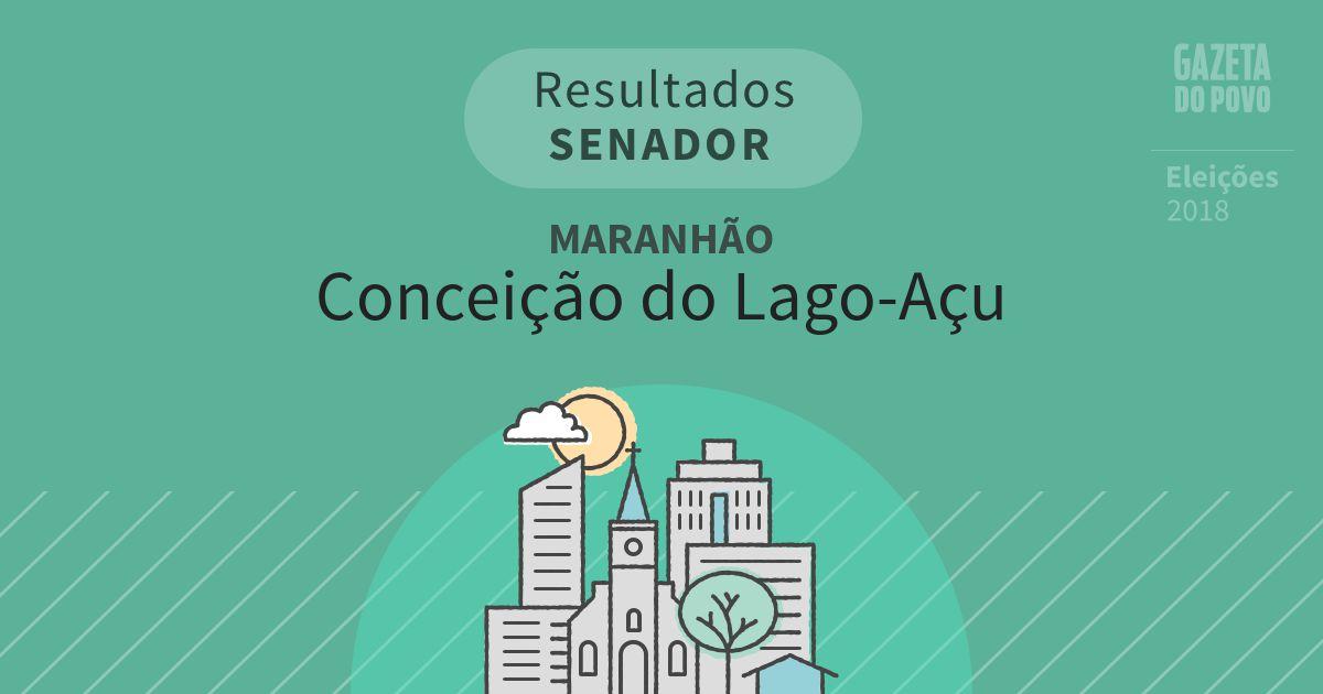 Resultados para Senador no Maranhão em Conceição do Lago-Açu (MA)