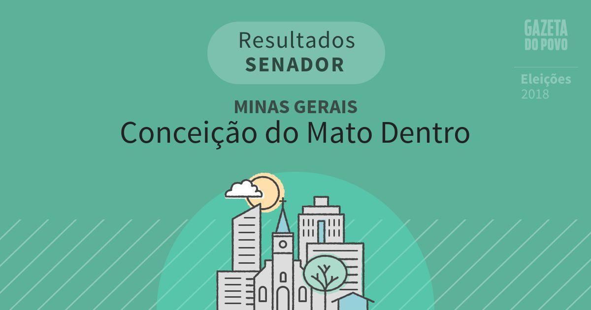 Resultados para Senador em Minas Gerais em Conceição do Mato Dentro (MG)