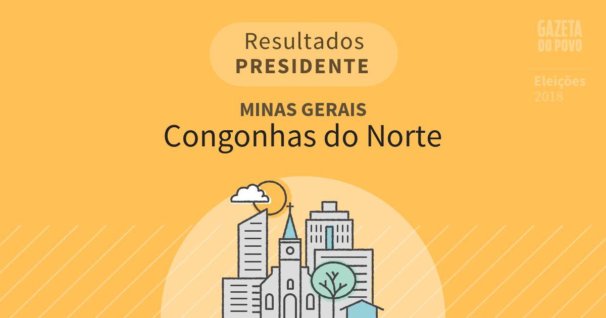 Resultados para Presidente em Minas Gerais em Congonhas do Norte (MG)