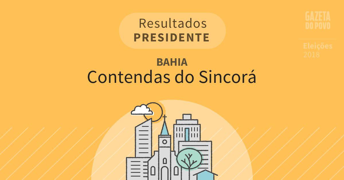 Resultados para Presidente na Bahia em Contendas do Sincorá (BA)