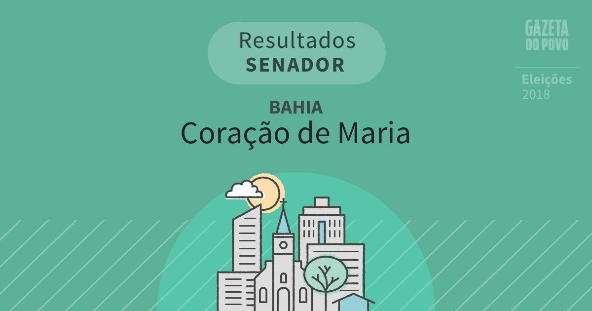 Resultados para Senador na Bahia em Coração de Maria (BA)