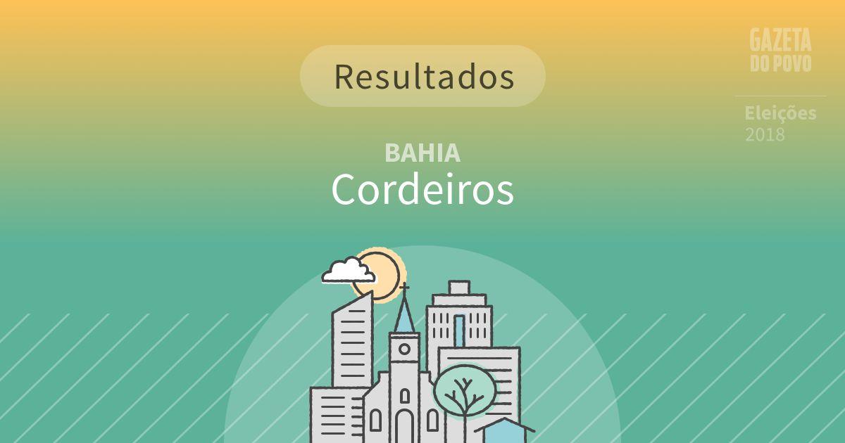 Resultados da votação em Cordeiros (BA)