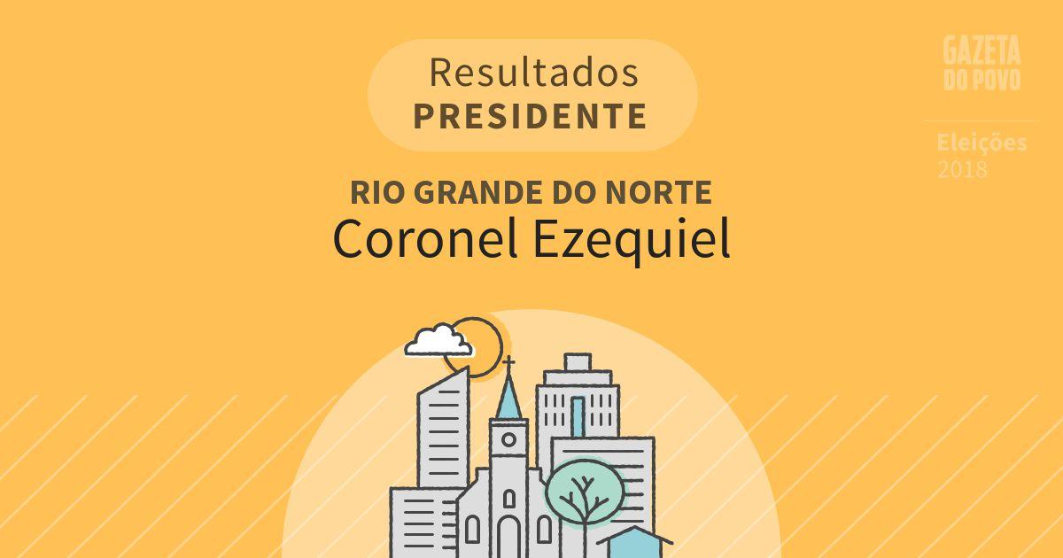 Resultados para Presidente no Rio Grande do Norte em Coronel Ezequiel (RN)