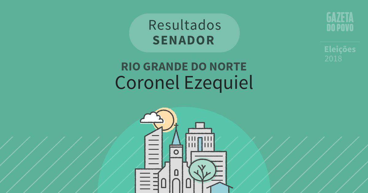 Resultados para Senador no Rio Grande do Norte em Coronel Ezequiel (RN)
