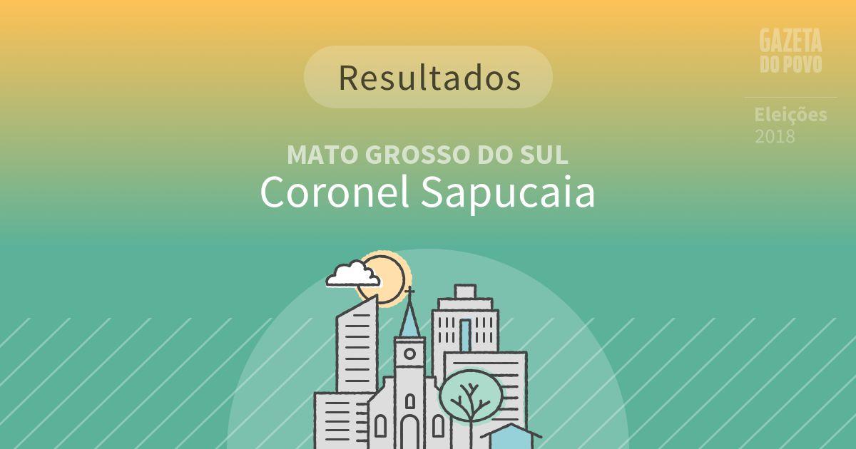 Resultados da votação em Coronel Sapucaia (MS)