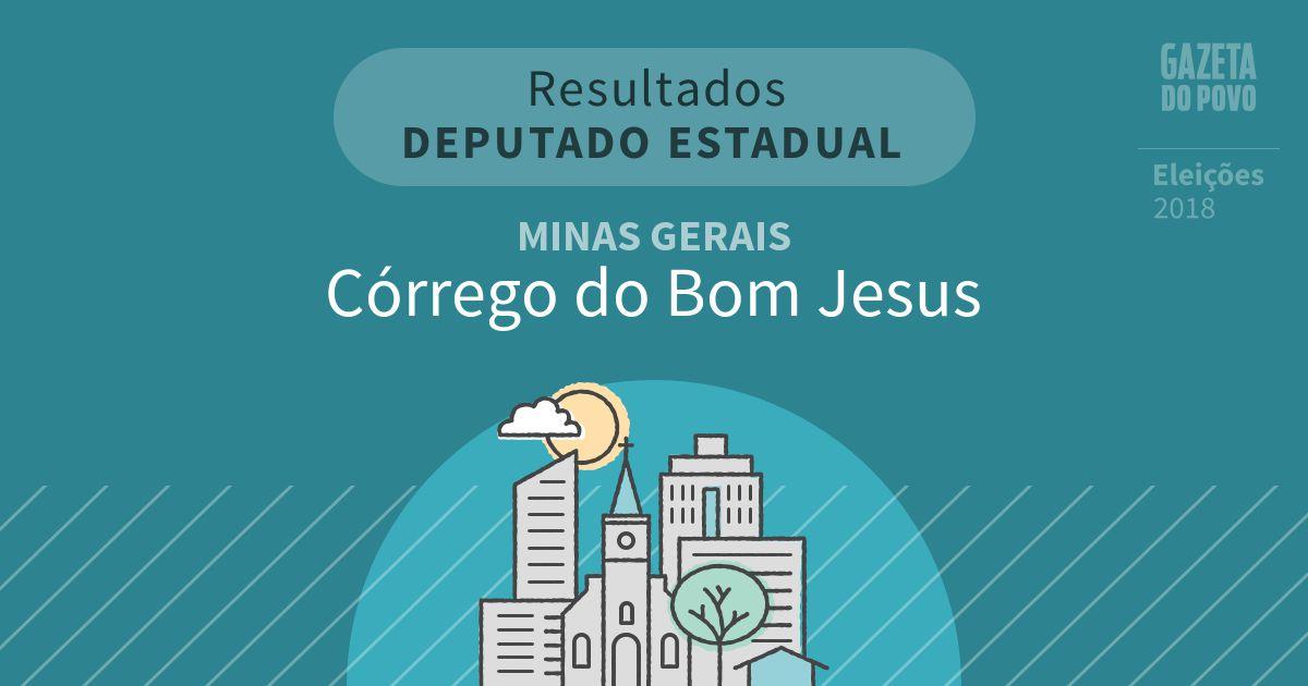 Resultados para Deputado Estadual em Minas Gerais em Córrego do Bom Jesus (MG)