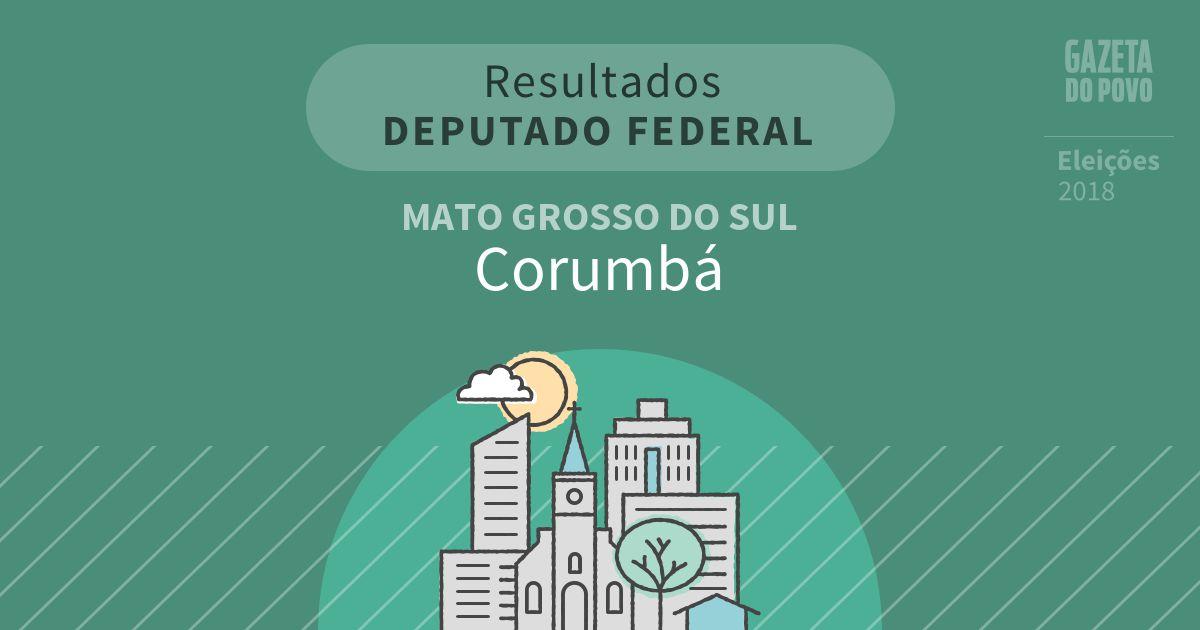 Resultados para Deputado Federal no Mato Grosso do Sul em Corumbá (MS)