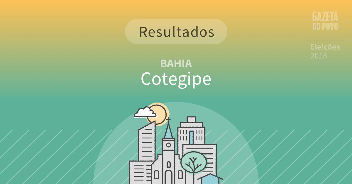 Resultados da votação em Cotegipe (BA)