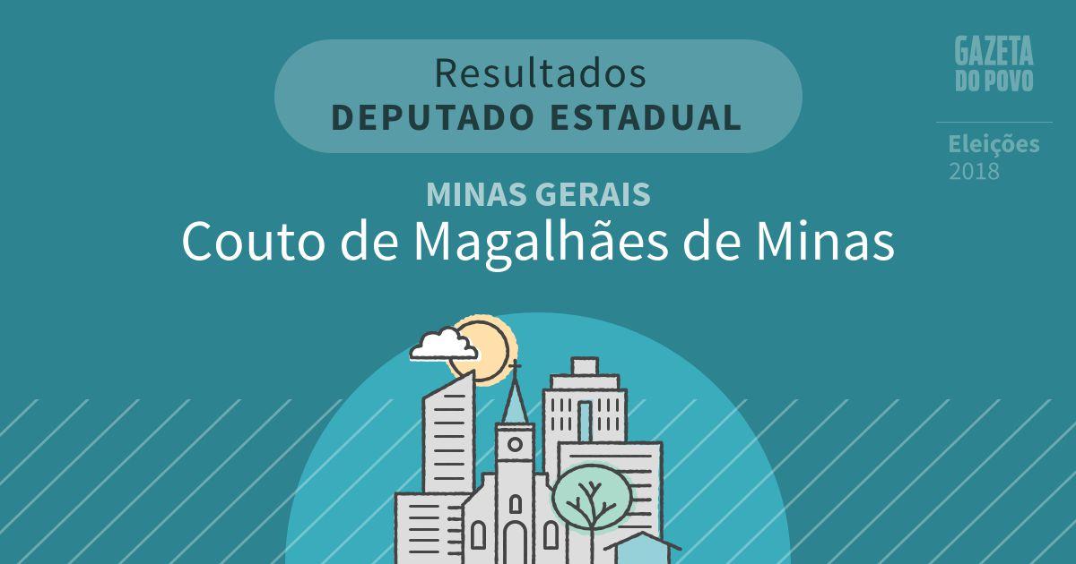 Resultados para Deputado Estadual em Minas Gerais em Couto de Magalhães de Minas (MG)