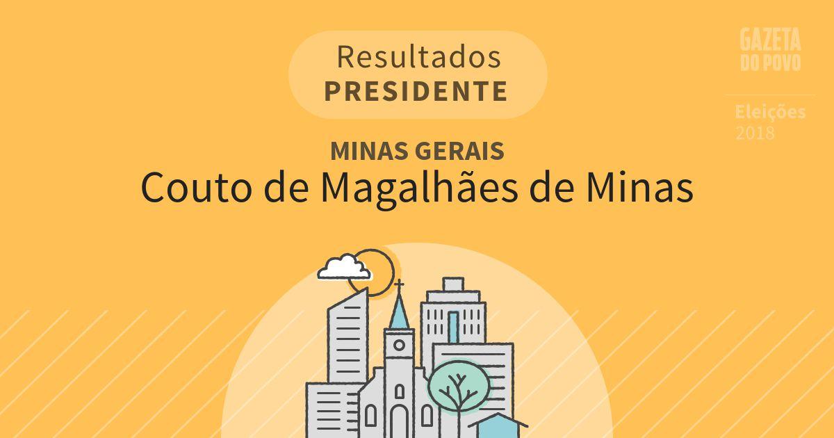 Resultados para Presidente em Minas Gerais em Couto de Magalhães de Minas (MG)