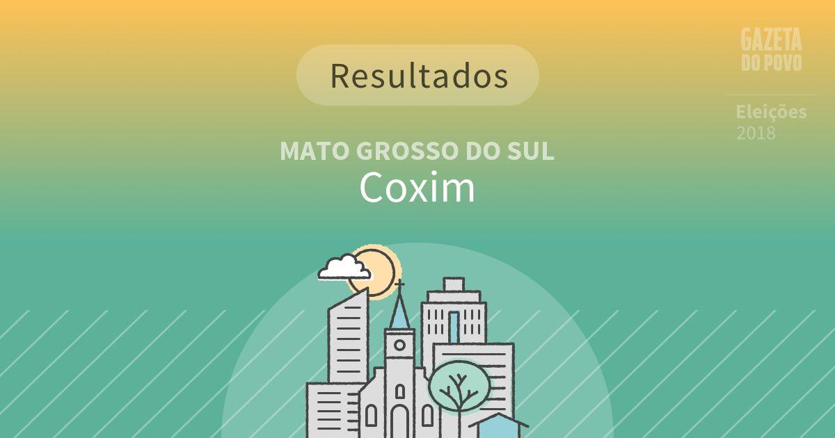 Resultados da votação em Coxim (MS)