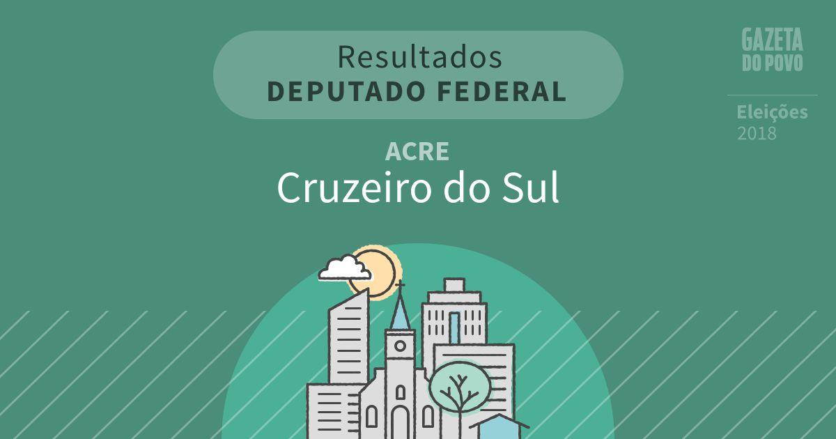 Resultados para Deputado Federal no Acre em Cruzeiro do Sul (AC)