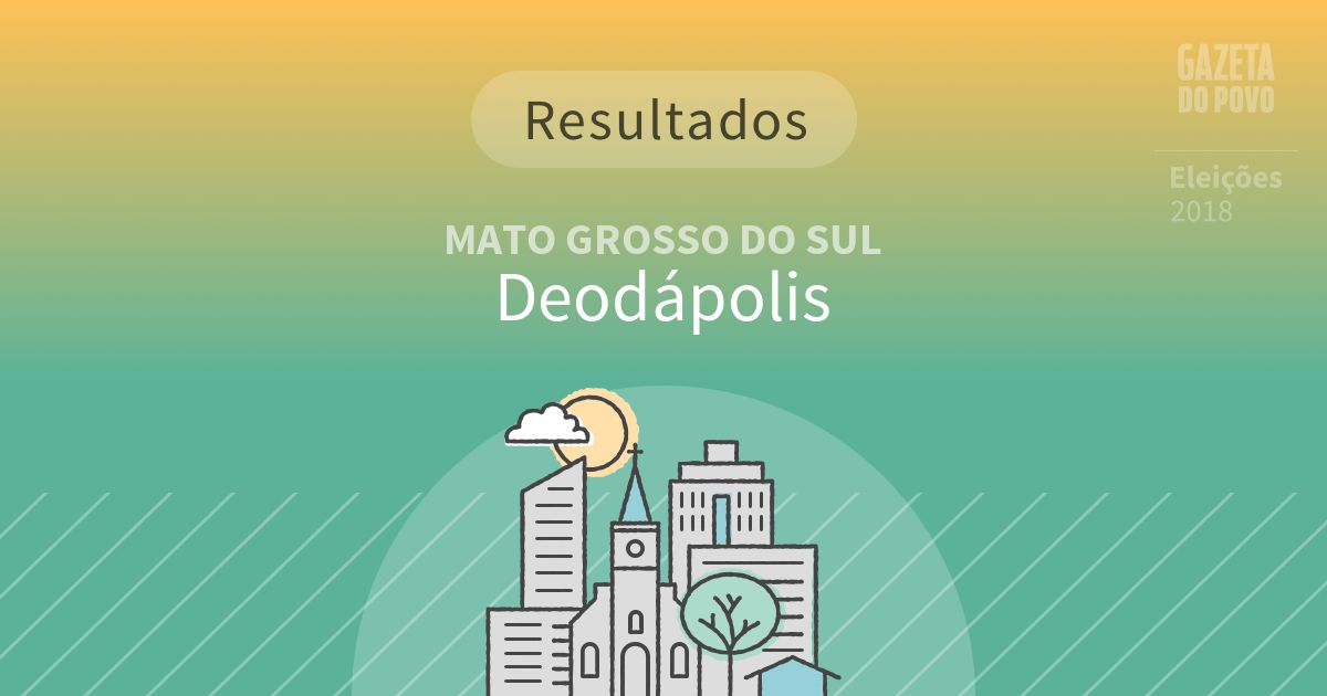 Resultados da votação em Deodápolis (MS)