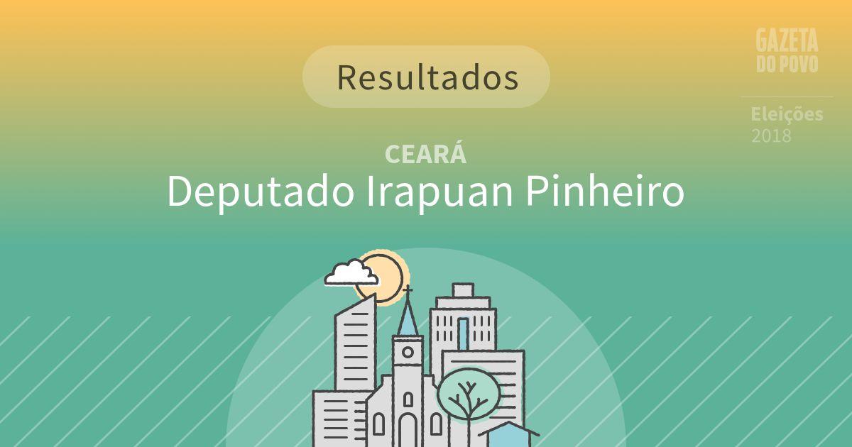 Resultados da votação em Deputado Irapuan Pinheiro (CE)