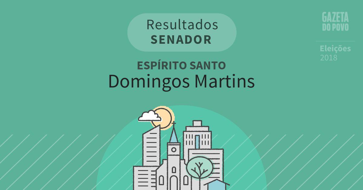 Resultados para Senador no Espírito Santo em Domingos Martins (ES)