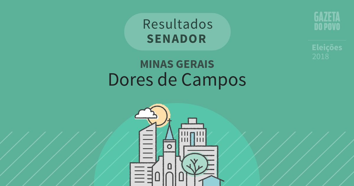 Resultados para Senador em Minas Gerais em Dores de Campos (MG)