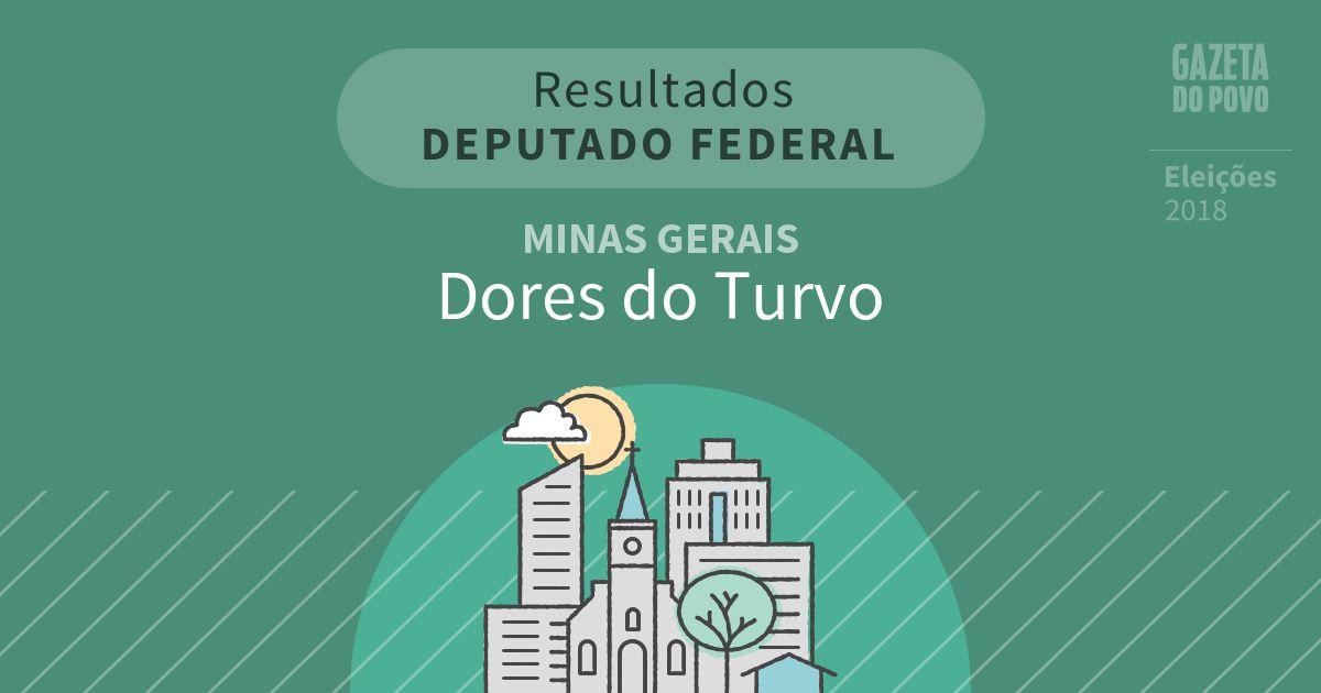 Resultados para Deputado Federal em Minas Gerais em Dores do Turvo (MG)