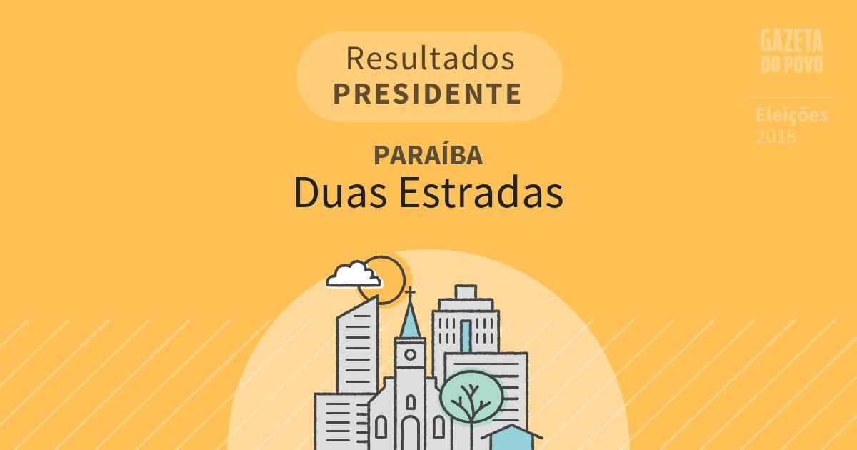 Resultados para Presidente na Paraíba em Duas Estradas (PB)