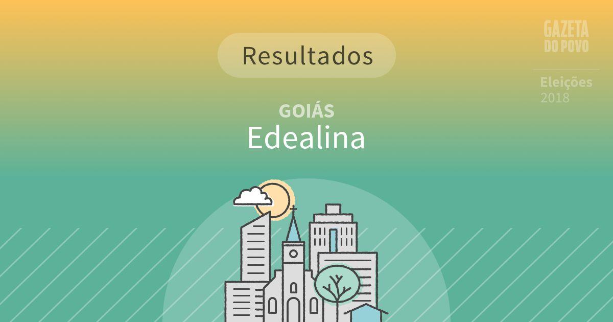 Resultados da votação em Edealina (GO)