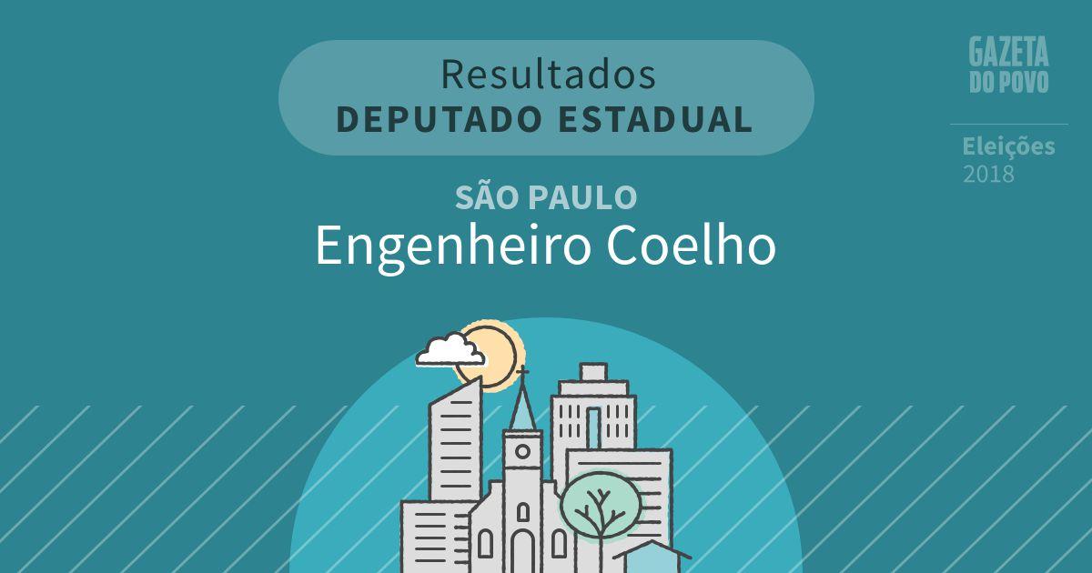 Resultados para Deputado Estadual em São Paulo em Engenheiro Coelho (SP)