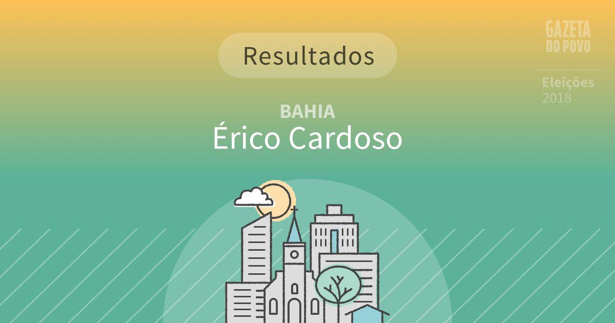 Resultados da votação em Érico Cardoso (BA)