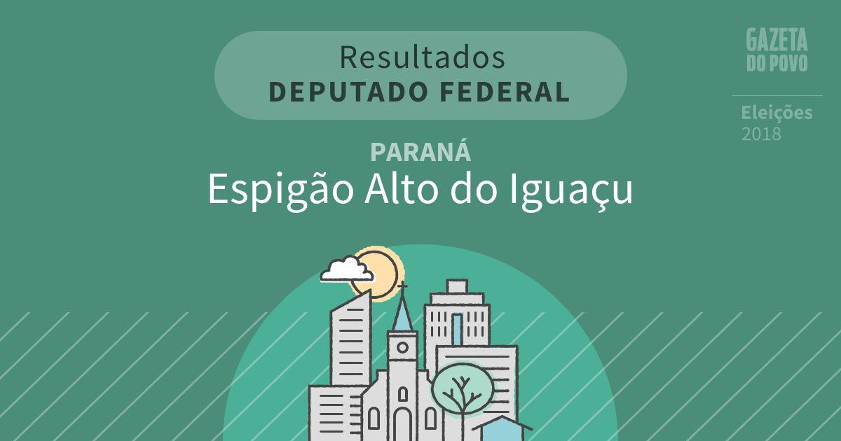 Resultados para Deputado Federal no Paraná em Espigão Alto do Iguaçu (PR)