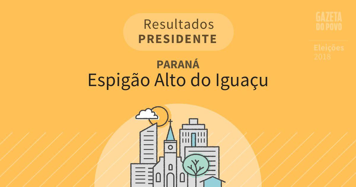 Resultados para Presidente no Paraná em Espigão Alto do Iguaçu (PR)