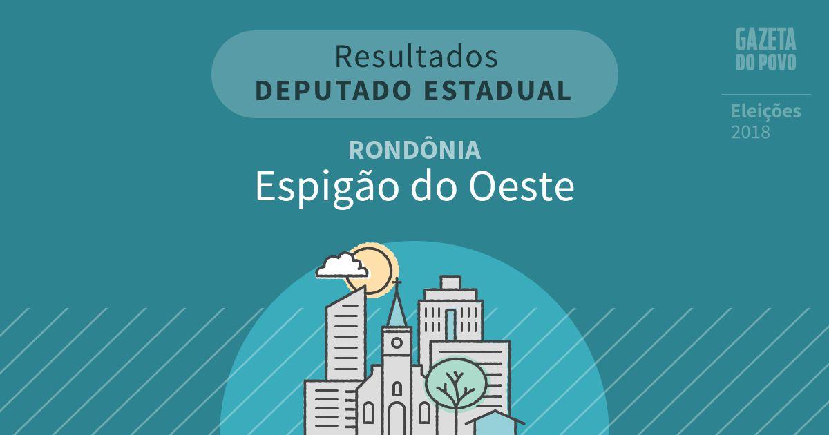 Resultados para Deputado Estadual em Rondônia em Espigão do Oeste (RO)