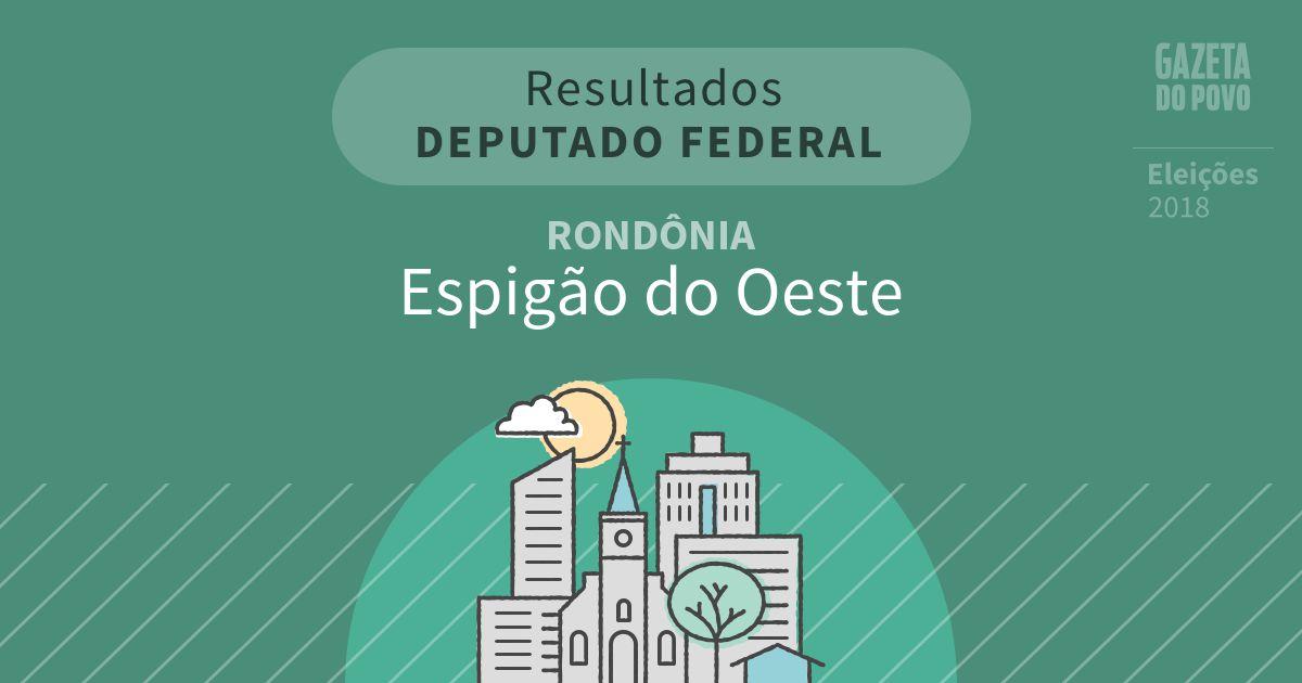 Resultados para Deputado Federal em Rondônia em Espigão do Oeste (RO)