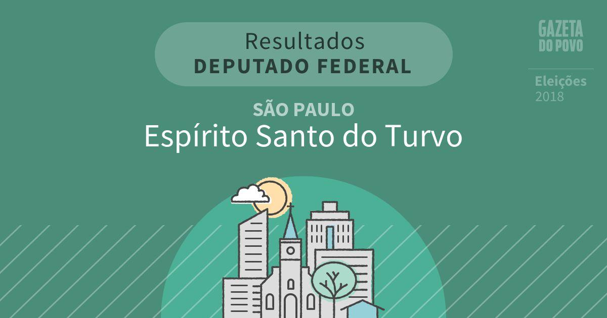 Resultados para Deputado Federal em São Paulo em Espírito Santo do Turvo (SP)