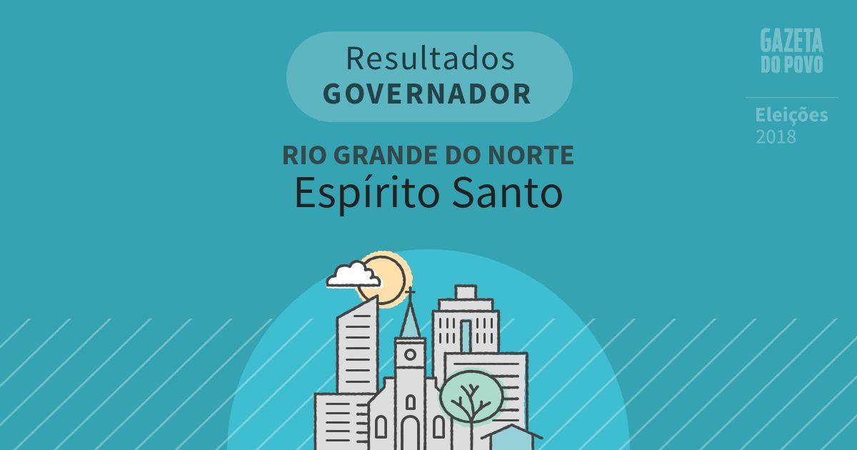 Resultados para Governador no Rio Grande do Norte em Espírito Santo (RN)