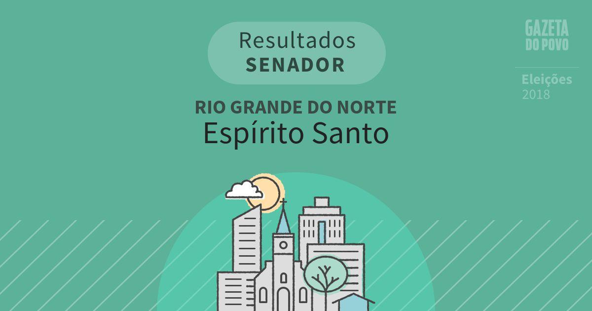 Resultados para Senador no Rio Grande do Norte em Espírito Santo (RN)