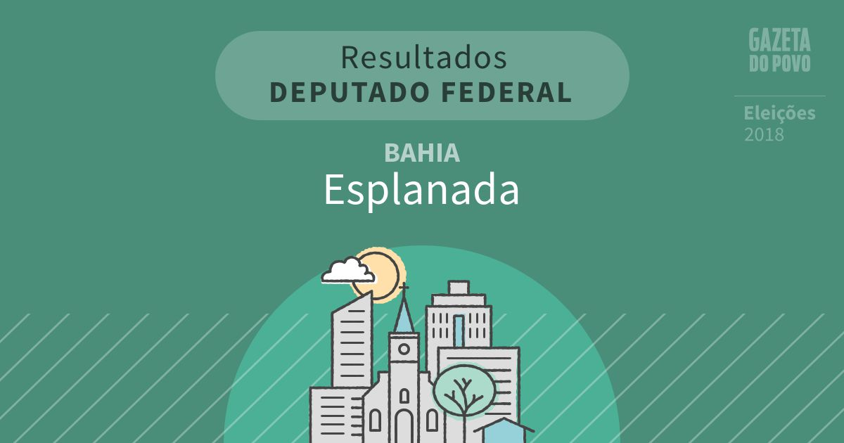 Resultados para Deputado Federal na Bahia em Esplanada (BA)