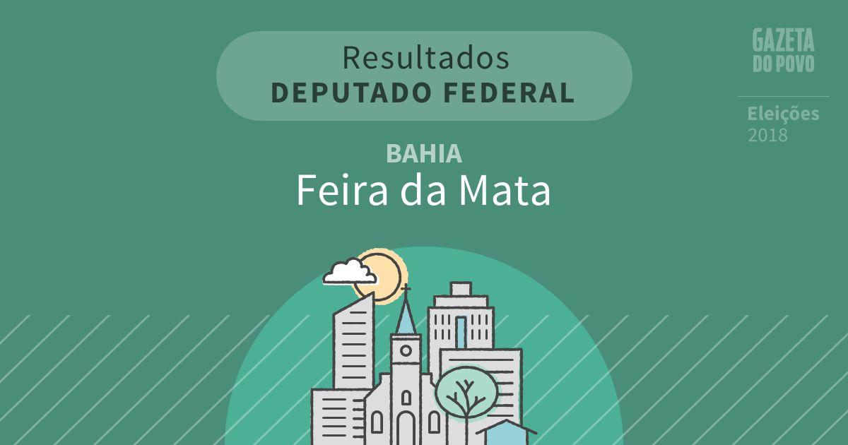 Resultados para Deputado Federal na Bahia em Feira da Mata (BA)
