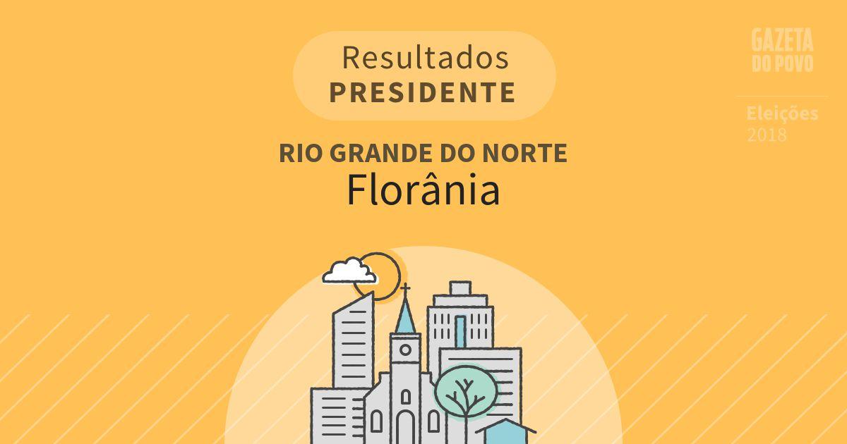 Resultados para Presidente no Rio Grande do Norte em Florânia (RN)