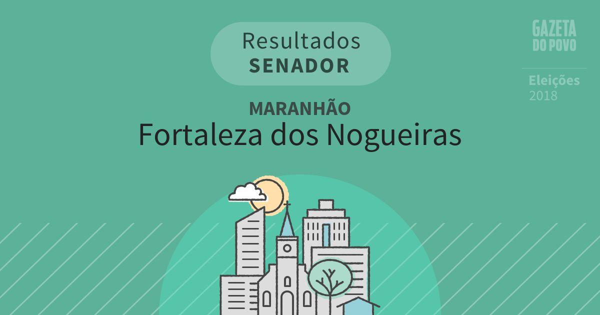 Resultados para Senador no Maranhão em Fortaleza dos Nogueiras (MA)