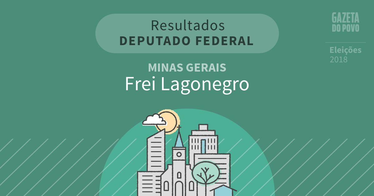 Resultados para Deputado Federal em Minas Gerais em Frei Lagonegro (MG)
