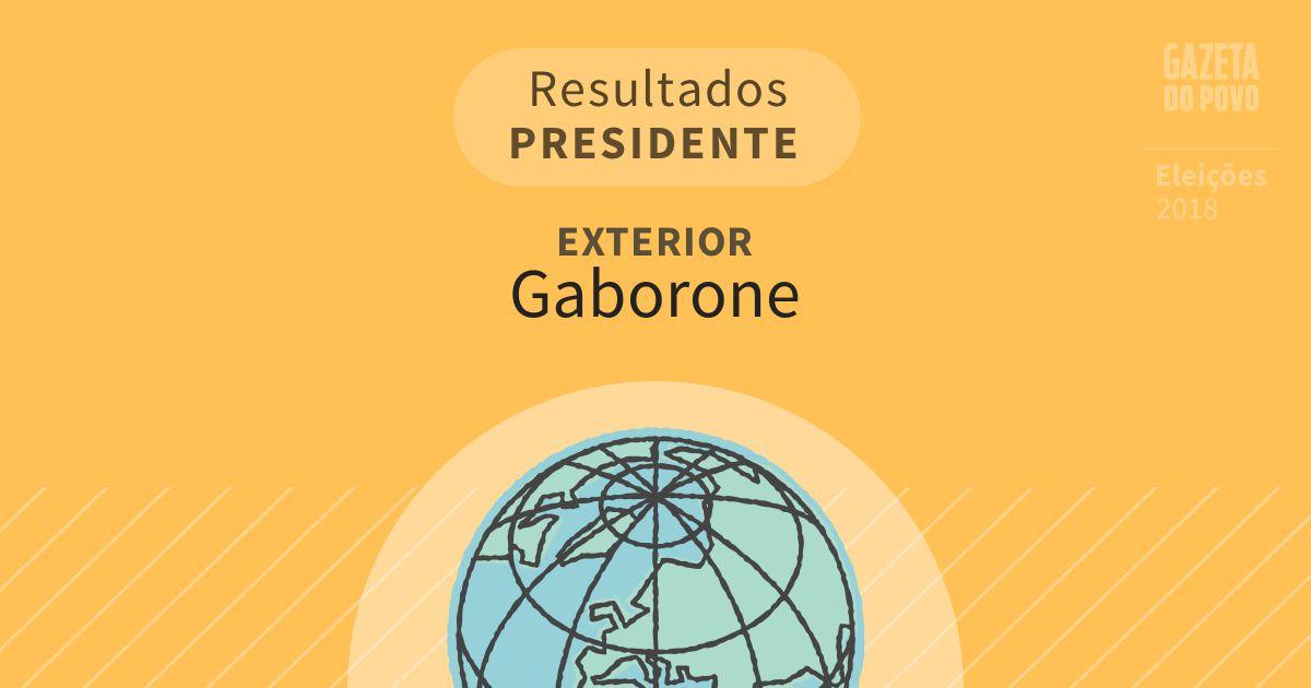 Resultados para Presidente no Exterior em Gaborone (Exterior)