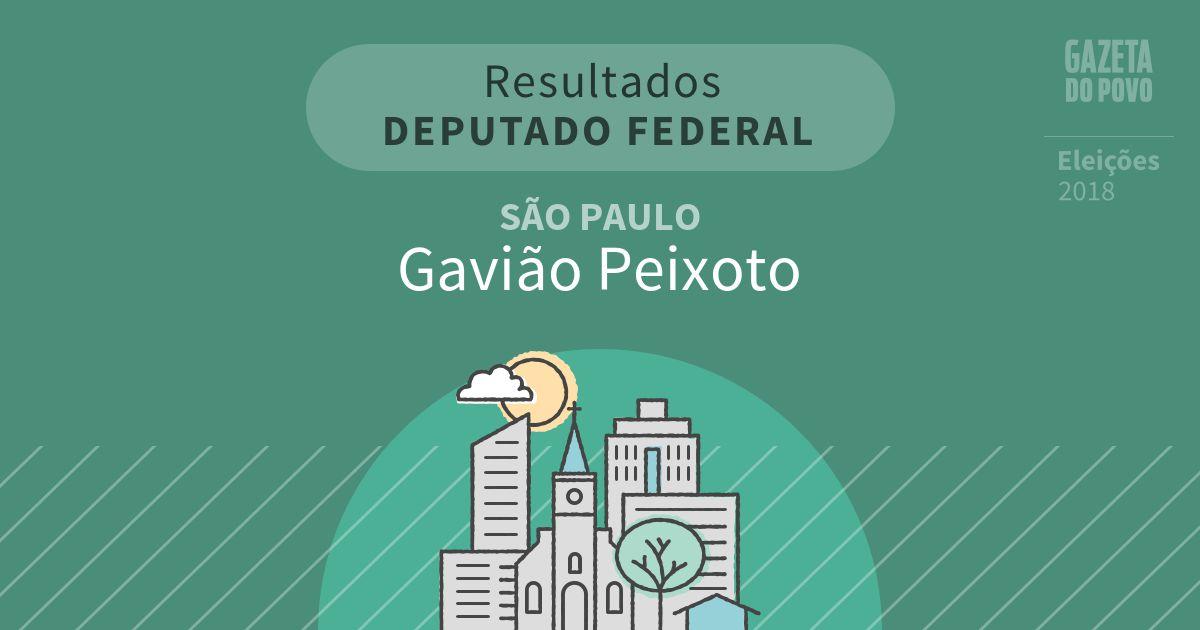 Resultados para Deputado Federal em São Paulo em Gavião Peixoto (SP)