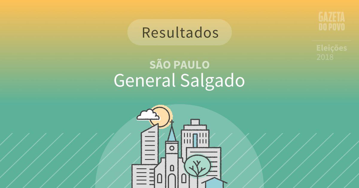 Resultados da votação em General Salgado (SP)
